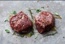 Pipers Farm Red Ruby Beef / All of our beef is pure Red Ruby. We do not rear any other cattle at all. We only feed grass to our cattle. We do not feed cereals or any other protein to accelerate the process of reaching natural maturity at 2 ½ to 3 years old. Red Rubies have a fine grained texture which marbles perfectly when they reach maturity.