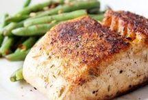 poulet,poisson,porc et boeuf