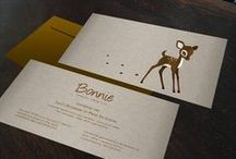 Geboortekaartje Bonnie - hertje - Xantifee collectie / Doopsuikerinspiratie voor een sprookjesachtig geboortekaartje met een schattig hertje uit de Xantifee collectie. http://www.shop.xantifee.com/geboortekaartjes/bonnie-geboortekaartje-hertje/