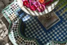 Moroccan Home / The beauty and elegance of Morocco. Rich fabrics, colours and intricate details.