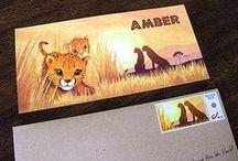 Geboortekaartje Aaron/Amber - Afrika - Xantifee collectie / Doopsuikerinspiratie voor twee afrikaanse geboortekaartjes met een schattig cheetah en olifantje uit de Xantifee collectie. http://www.shop.xantifee.com/geboortekaartjes/aaron-geboortekaartje-afrika-olifant/ & http://www.shop.xantifee.com/geboortekaartjes/amber/