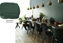 Green cyan undertone paint  by Benjamin Moore