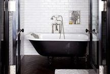 iNTERiOR - bathroom / INTERIOR DESIGN BATHROOM | bathing | bath | shower | tiles | home | furniture | decorating | loft | brownstone | apartment | new york | san francisco | amsterdam | paris | concrete | wood | black | white | eclectic | design | / by Lin's Black Book of Ideas