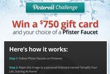 """Pfister Contest """"Simplify Your Life"""""""
