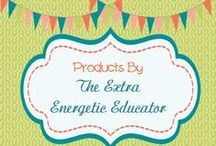Products By The Extra Energetic Educator / Products created by The Extra Energetic Educator.  Download any of them at http://www.teacherspayteachers.com/Store/The-Extra-Energetic-Educator