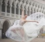 Venice surprise pre-wedding shooting gift. / This photoshoot was a gift from a groom-to-be for his beloved bride-to-be a ballet dancer. He asked to organize a surprise for his fiancé: A photoshoot of her dancing in a stunning Galia Lahav House of Couture wedding dress around the beautiful streets of Venice, Italy. The best part of the day? Seeing the happiness coming from the bride-to-be! Photography:  Paolo Berzacola Wedding and evenin gowns: Galia Lahav