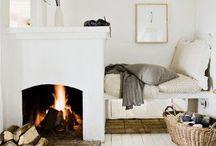 + f i r e p l a c e s / Fireplaces, hearths, chimneys, mantles. Swedish tile stoves. Kakelugn. beautiful examples of the hearth in the home. / by Marika Francisco