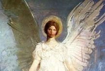 """fallen medieval angels / """"Don't worry everybody's got an angel Sooner or later somebody's gonna love you well."""""""
