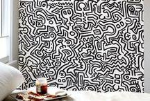 Stickers Keith HARING / L'univers de Keith HARING sur vos murs:  une collection exclusive des personnages les plus connus de l'oeuvre de K.Haring