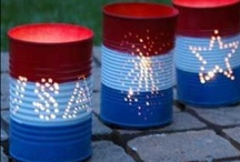 Red White and Blue / Products, recipes, home decor or craft projects for people that love the USA. Patriotic gifts for 4th of July or other Federal US holidays.  / by Annalee Blysse
