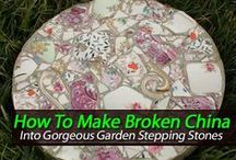 Dropped Dishes / We've all had it happen.  You're rushing while serving a meal or not paying attention while washing up after entertaining and you drop a dish.  Don't throw away the pieces of broken china!  Make them into something fabulous.