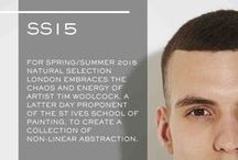SS15 LOOKBOOK / For our Spring/Summer 2015 collection we embrace the energetic chaos of artist Tim Woolcock by creating a collection of non-linear abstraction.