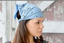 retro kerchief headbands / Reminiscent of the 1950's, the kerchief headband is a must-have casual accessory. The pre-tied style and perfect sizing means that this is one hair accessory sure to stay in place all day.  Shop all of my women's headbands at www.etsy.com/shop/SpecificallyRandom or my girl's selection at www.etsy.com/shop/SpecificallyRandom2.