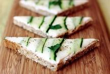 Tea Sandwiches / Davidson's Organics tea sandwiches board