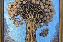 Art-Mixed Media Trees
