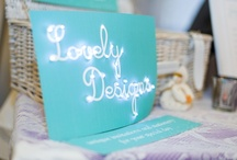 Lovely Designs / Examples of our work, creations and mood boards. Read all about us at www.lovelydesigns.co.uk