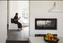 Minimal living / Their ambition for this space was the simpler, the better having no children but two cats, they wanted some fun spaces for the cats, but for themselves, they just wanted space, with almost no furniture or decorations.