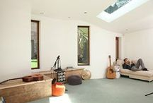 Studio for a dancer / A busy contemporary choreographer/musician, appointed Scenario Architecture to design a space in which to think, write music and move freely at the back of his north London garden.