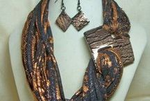 SCARVES  with  JEWELRY  and  imagination!