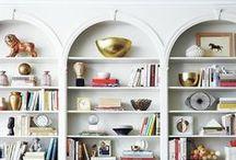 Styling:  Bookshelves