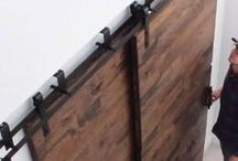 Wood Barndoors / Using our Wood Barn Door Hardware Kit, you can easily install your classic barn door and add a rustic charm to any room! These kits are suitable for either Single or Double barn doors and are available in a variety of finishes: Matte Black, Espresso, and Stainless Steel. Kits come with all of the hardware needed for a trouble-free installation.