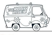 Scooby doo mystery machine coloring page everything for Scooby doo mystery machine coloring pages