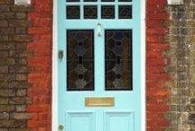 Colourful Front Door Design / Bold fun colourful doors