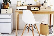 Stylish work spaces / I love scandinavian design with it's clean lines and natural timbers and finishes.