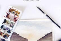 Watercolor   Acuarela♡