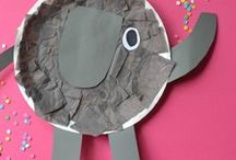 CRAFTS - Paper Plates / Fun kids' activities and crafts using paper plates! From animals and nature to vehicles and super hero masks, use this basic craft supply to make so many cute projects!