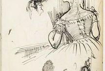 Les carnets de Degas / Carnets de dessins et croquis du peintre Edgar Degas (1834-1917), donnés par son frère en 1920 à la Bibliothèque nationale