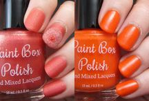 Paint Box Polish / Polishes available in my Big Cartel shop! Five-free, cruelty-free polishes designed and hand mixed by me. / by Pam R