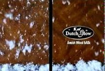 Amish Dutch Glow Polish and Amish Furniture / Amish furniture is usually handcrafted and beautiful. The Amish have also created wood milk to keep wood furniture looking new. Find unique Amish pieces and tips on protecting it.