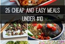 Budget Meals: Low Cost, Easy Recipes. / Cooking on a budget? Try these easy and affordable recipes!