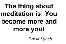 { mostly meditation }
