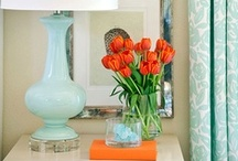 Coral Corral / I'm looking for ways to incorporate bright coral accents into my color story