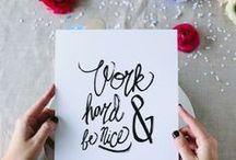 words and illustrations / quotes to inspire