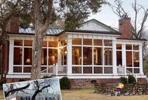 Additions+ / Enclosed Porches, Sun Porch,  Porch Additions, Screened-in Porches, Charleston style verandas with side doors, Lanais
