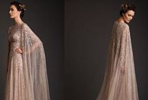 Gowns with capes
