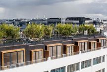 Surélévation Charcot / Surélévation Charcot   4 maisons sur un toit   Rue Charcot, Paris 13e   Maître d'ouvrage : SNC Esprimm   Studio Vincent Eschalier - Architecture & Design