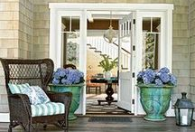 Make An Entrance (Exterior) / Your home's front entrance is a visitors first impression of your home and sets the tone. Make the entrance to your home welcoming. Do it not only for your guests but also for yourself. Style your front door, porch, walkway, in a way that introduces one to what awaits inside. Don't forget to give some special attention to that side door or garage door that you use everyday.