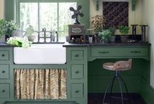 Watercolored Kitchens