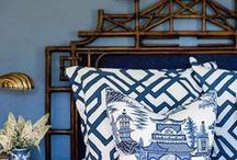 Chin' is In / Chinoiserie  Lots of blue and white, fresh, Asian influence, timeless, a great style for eclectic spaces. What's not to love? For me though, a little Chin goes a long way. Knowing when enough is enough, is the key.