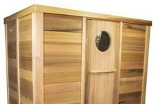 """Our Cedar Log Saunas / Ukko log saunas are made out of """"A"""" grade Canadian Western Red Cedar - one of the best timbers used for sauna constructions"""