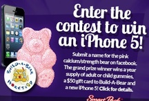 Name our Pink Calcium Bear! / This month, our contest focuses on naming the pink calcium bear! Have any great ideas? LIKE our facebook page and enter the contest for October. http://www.facebook.com/gummyvitamins/app_95936962634