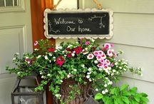 container garden/yard decor/planters / by Maggie Castaneda