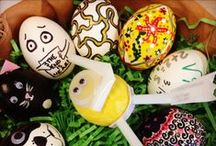 Easter Eggs - spiration! / The Marketplace Events team put their creativity to the test! Armed with a dozen hard-boiled eggs, markers, hot glue and other craft supplies, the team demonstrated just how easy it is to transform a white egg into a work of art.  / by Home & Garden Events