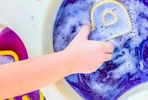 Sensory Play / Fun ways to explore all 5 senses with babies, toddlers and preschoolers.