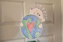 Earth Day / Fun ideas to celebrate Earth day at home and in a classroom, including decoration, learning, crafts and art projects.