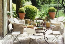 al fresco / The downside of city living is no private backyard for al fresco dining. My apartment building has a beautiful shared garden, but these are my fantasy outdoor spaces. / by Robin Zaleski